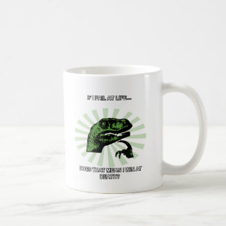 Philosoraptor Winning at Death Coffee Mug