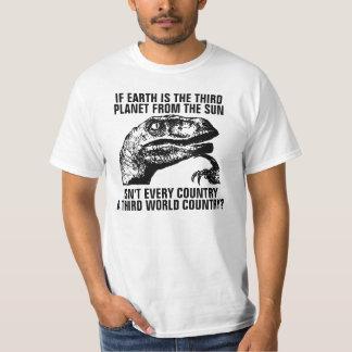 Philosoraptor with Customizeable Text Tee Shirts