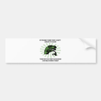 Philosoraptor Women Baking Bumper Sticker