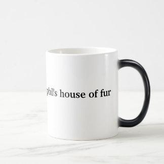Phil's House Of Fur heat morphing mug (left-hand)