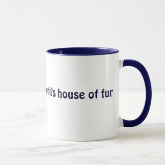 Phil's House Of Fur sml blue ringer (left-hand) Mug