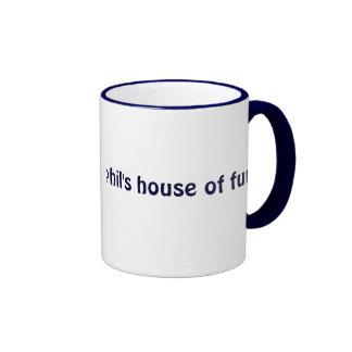 Phil's House Of Fur sml blue ringer (left-hand) Ringer Coffee Mug