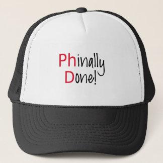 Phinally Done,  PhD graduate, graduation gift Trucker Hat