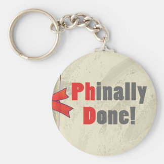 Phinally Done Scroll Keychain