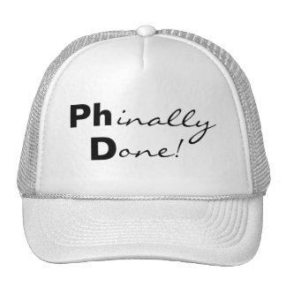 ¡Phinally hecho! Ph.D. Gorra graduado