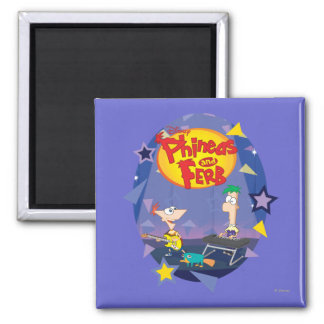 Phineas and Ferb 1 2 Inch Square Magnet