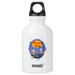 SIGG Traveller Water Bottle (0.6L) with Phineas and Ferb Playing Music design