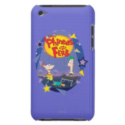 Phineas and Ferb Playing Music Case-Mate iPod Touch Barely There Case