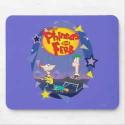 Mousepad with Phineas and Ferb Playing Music design