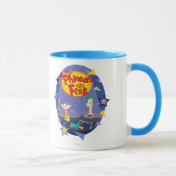 Combo Mug with Phineas and Ferb Playing Music design