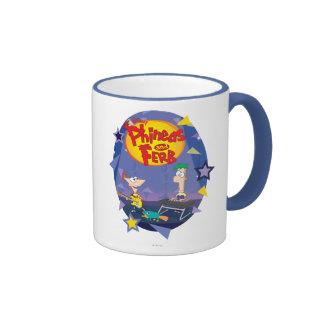 Phineas and Ferb 1 Ringer Coffee Mug