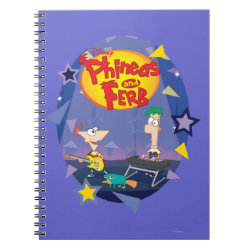 Phineas and Ferb Playing Music Photo Notebook (6.5