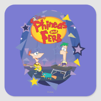 Phineas and Ferb 1 Square Sticker