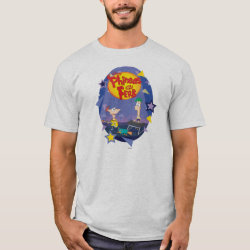 Phineas and Ferb Playing Music Men's Basic T-Shirt