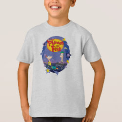 Phineas and Ferb Playing Music Kids' Hanes TAGLESS® T-Shirt