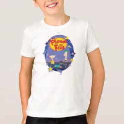Kids' American Apparel Fine Jersey T-Shirt with Phineas and Ferb Playing Music design