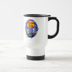 Travel / Commuter Mug with Phineas and Ferb Playing Music design