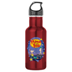 Phineas and Ferb Playing Music Water Bottle (24 oz)