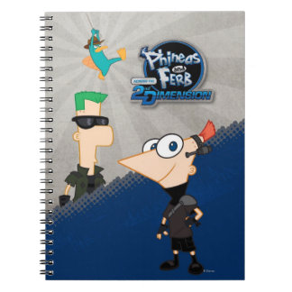 Phineas and Ferb - 2D Spiral Notebook