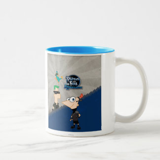 Phineas and Ferb - 2D Two-Tone Coffee Mug