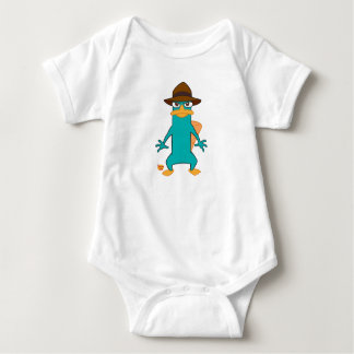 Phineas and Ferb Agent P platypus in hat standing Baby Bodysuit