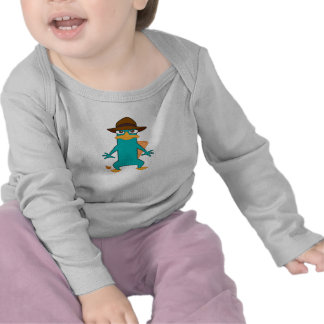 Phineas and Ferb Agent P platypus in hat standing Tshirt
