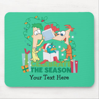 Phineas and Ferb Celebrate the Season Mouse Pad