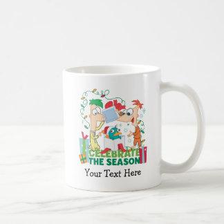 Phineas and Ferb Celebrate the Season Classic White Coffee Mug