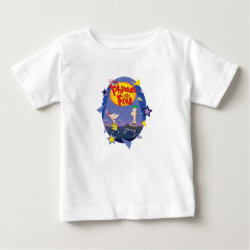 Baby Fine Jersey T-Shirt with Phineas and Ferb Playing Music design
