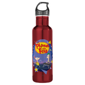 Phineas and Ferb Disney Stainless Steel Water Bottle