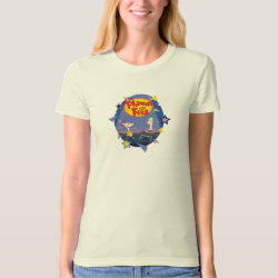 Women's American Apparel Organic T-Shirt with Phineas and Ferb Playing Music design