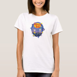 Women's Basic T-Shirt with Phineas and Ferb Playing Music design