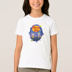 Phineas and Ferb Playing Music Girls' American Apparel Fine Jersey T-Shirt