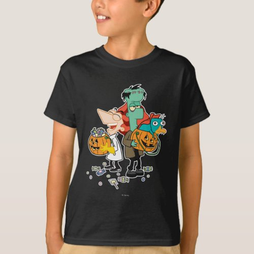 Phineas and Ferb Halloween T_Shirt