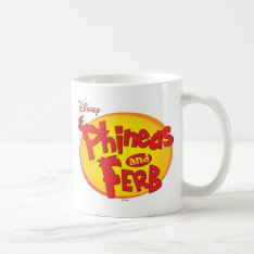 Phineas and Ferb Logo Disney Classic White Coffee Mug at Zazzle