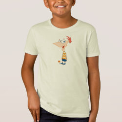 Kids' American Apparel Organic T-Shirt with Phineas Flynn design