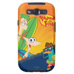 Phineas, Ferb and Agent P Surf Samsung Galaxy SIII Cover