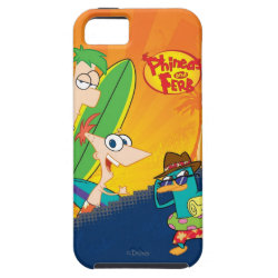 Case-Mate Vibe iPhone 5 Case with Phineas, Ferb and Agent P Surfing design