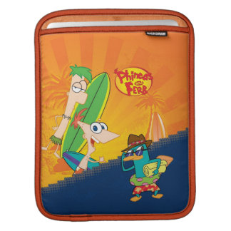 Phineas, Ferb and Agent P Surf iPad Sleeves