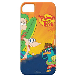 Phineas, Ferb and Agent P Surfing Case-Mate Vibe iPhone 5 Case