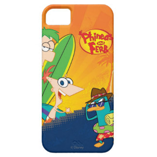 Phineas, Ferb and Agent P Surf iPhone SE/5/5s Case