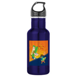 Phineas, Ferb and Agent P Surfing Water Bottle (24 oz)