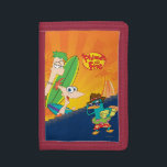"""Phineas, Ferb and Agent P Surf Trifold Wallet<br><div class=""""desc"""">Phineas and Ferb - Phineas and Ferb</div>"""
