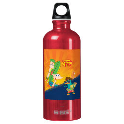 SIGG Traveller Water Bottle (0.6L) with Phineas, Ferb and Agent P Surfing design
