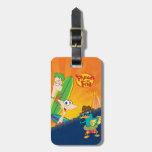 Phineas, Ferb y resaca del agente P Etiqueta De Equipaje