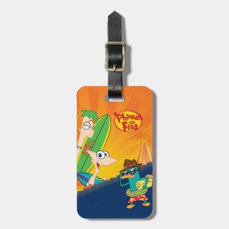 Phineas, Ferb y resaca del agente P Etiquetas De Equipaje