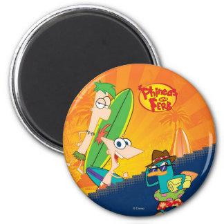 Phineas, Ferb y resaca del agente P Imán De Nevera