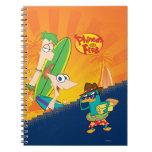 Phineas, Ferb y resaca del agente P Libro De Apuntes