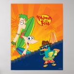 Phineas, Ferb y resaca del agente P Posters