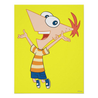 Phineas Jumping Print